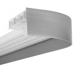 Бленда за пластмасов корниз цвят стомана оптик 8974