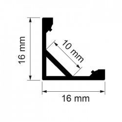Алуминиев профил за лед лента ъглов APN204
