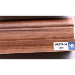 PVC подов перваз цвят тъмен орех Prexa H5