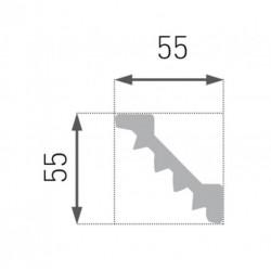 Стиропорен перваз B14 - 55/55 мм