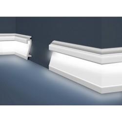 Декоративен перваз INTERO - HF-3  - 2м - 22/109 мм - с канал за скрито осветление