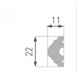 Декоративен перваз INTERO - HW-1 - 2м - 22/11мм