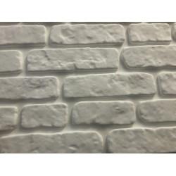 3D Интериорни тухлени панели -бяло