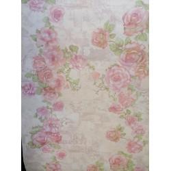 Винтидж рози ,крем и лилаво 1003-03