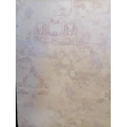 Винтидж Фон , крем и лилаво 1004-03