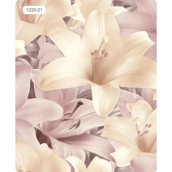 Лилия пепеляв бледоморав цвят и слама 1035-01