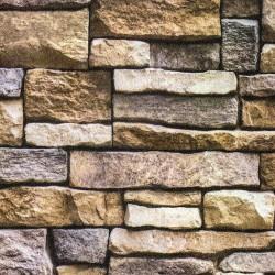 3D Каменна стена цвят орех 2001